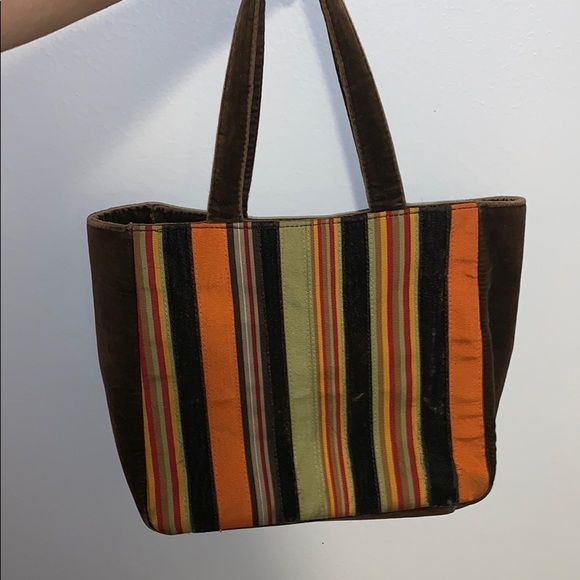 Bath & Body Works Handbags - Brown orange multi color bag